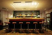 Trendy modern bar