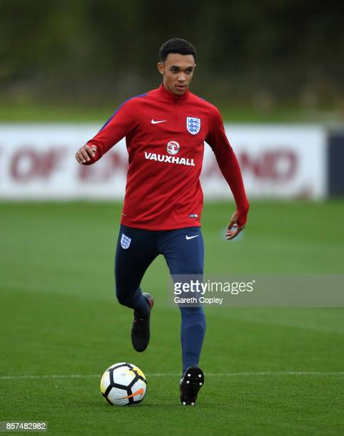 Trent AlexanderArnold of England at St Georges Park on October 4 2017 in BurtonuponTrent England