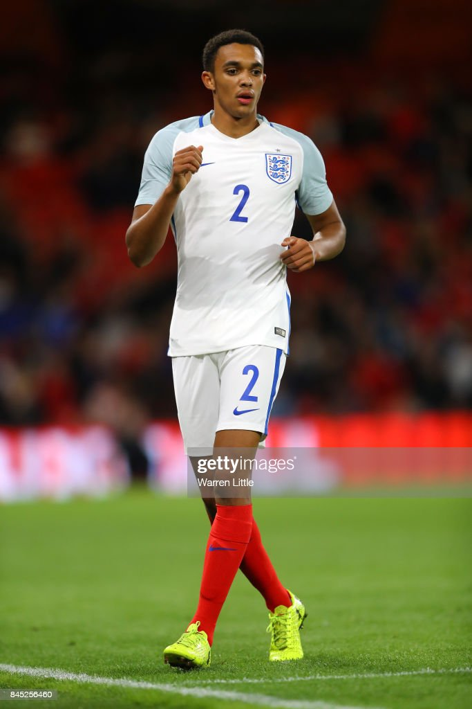 Trent Alexander-Arnold of England U21 in action during the UEFA Under 21 Championship Qualifiers between England and Latvia at the Vitality Stadium on September 5, 2017 in Bournemouth, England.