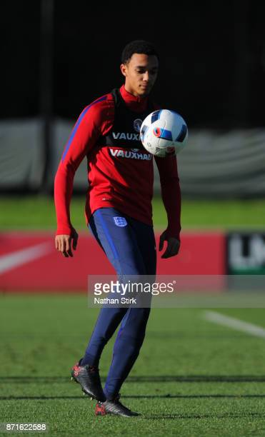 Trent AlexanderArnold of England U21's during a training session at St Georges Park on November 8 2017 in BurtonuponTrent England
