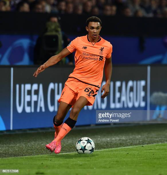 Trent AlexanderArnold of Liverpool during the UEFA Champions League group E match between NK Maribor and Liverpool FC at Stadion Ljudski vrt on...