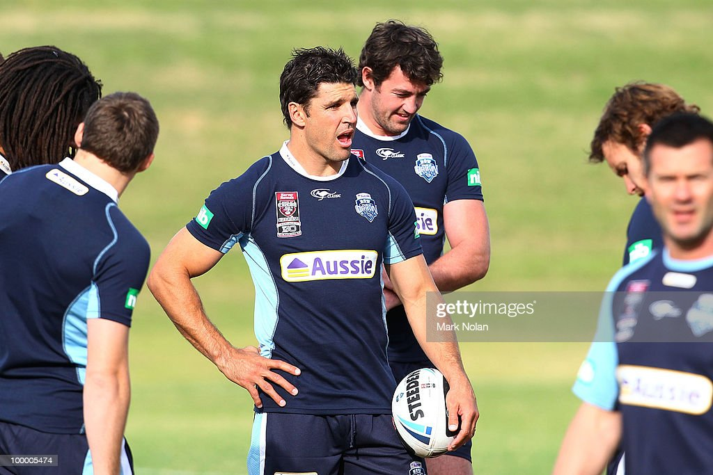 Trent Barrett is pictured during a New South Wales Origin training session at WIN Stadium on May 20, 2010 in Wollongong, Australia.
