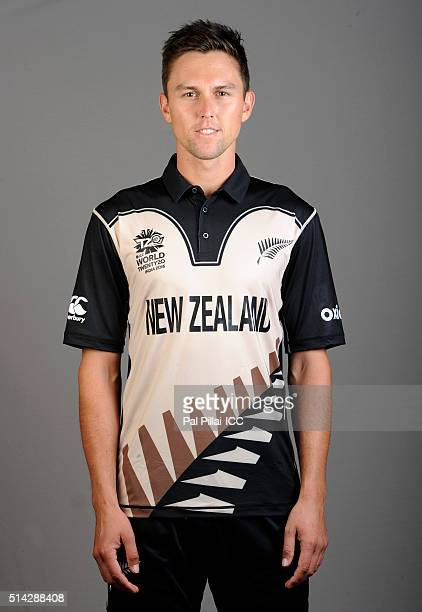 Trent Boult of New Zealand poses during the official photocall for the ICC Twenty20 World on March 8 2016 in Mumbai India