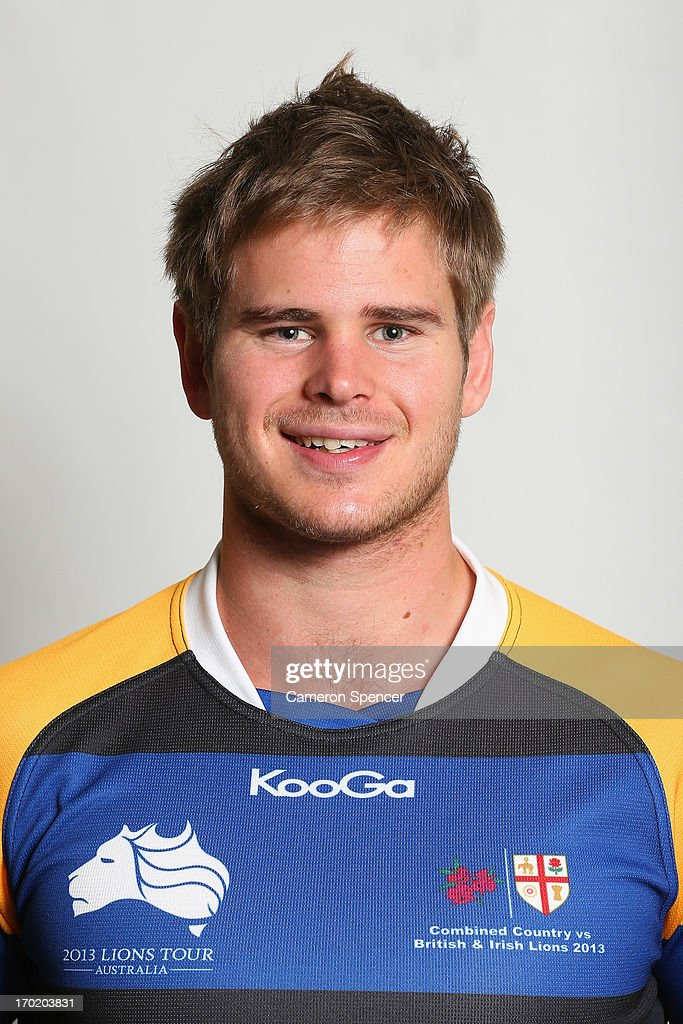 Trent Dyer of the Combined NSW/QLD Country team poses during a headshots session at The Crowne Plaza on June 9, 2013 in Newcastle, Australia.