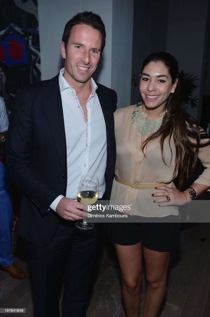 Trent Fraser and Nicole Stanziola attend the celebration of Dom Perignon Luminous Rose at Wall at W Hotel on December 6, 2012 in Miami Beach, Florida.