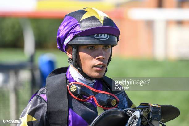 Trent Germaine wins the CBRE Agribusiness Handicap at Terang Racecourse on March 02 2017 in Terang Australia