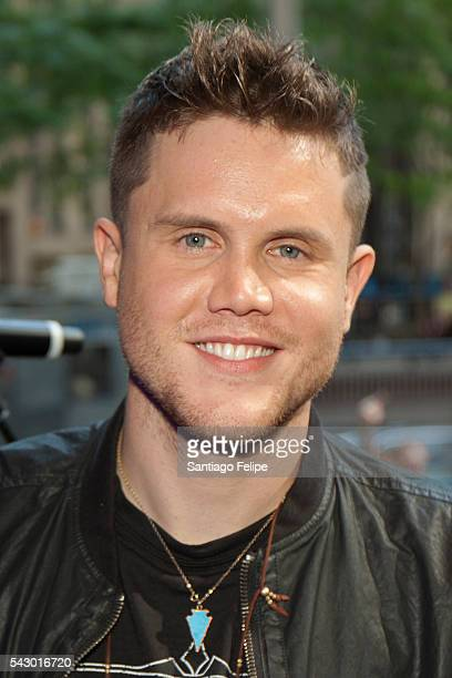 Trent Harmon attends 'FOX Friends' All American Concert Series outside of FOX Studios on June 24 2016 in New York City