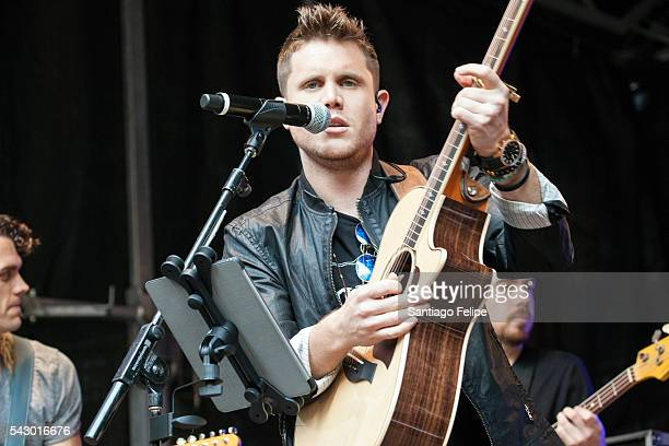 Trent Harmon performs onstage during 'FOX Friends' All American Concert Series outside of FOX Studios on June 24 2016 in New York City