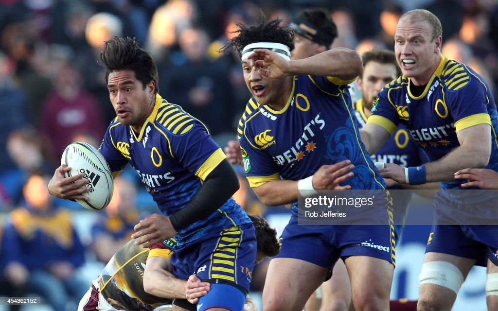 Trent Renata of Otago on the attack during the ITM Cup match between Southland and Otago on August 30, 2014 in Invercargill, New Zealand.