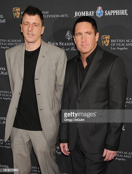 Trent Reznor and Atticus Ross arrive at the 17th Annual BAFTA Los Angeles Awards Season Tea Party at the Four Seasons Hotel on January 15 2011 in Los...