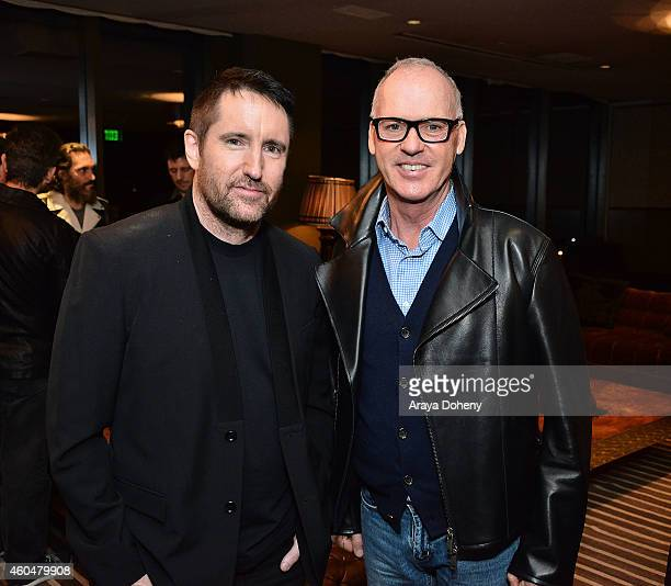 Trent Reznor and Michael Keaton attend the cinema prive And PANDORA Jewelry host a special screening of 'Gone Girl' on December 14 2014 in West...