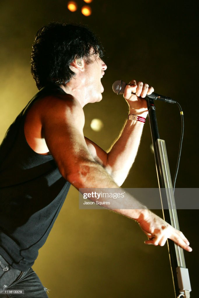 <a gi-track='captionPersonalityLinkClicked' href=/galleries/search?phrase=Trent+Reznor&family=editorial&specificpeople=239036 ng-click='$event.stopPropagation()'>Trent Reznor</a> of <a gi-track='captionPersonalityLinkClicked' href=/galleries/search?phrase=Nine+Inch+Nails&family=editorial&specificpeople=799973 ng-click='$event.stopPropagation()'>Nine Inch Nails</a> during 2005 Coachella Valley Music Festival - Day 2 at Empire Polo Fields in Indio, California, United States.