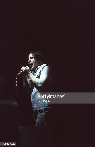 Trent Reznor of Nine Inch Nails during Nine Inch Nails in Concert May 9 2000 in New York City New York United States