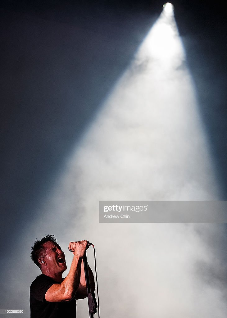 <a gi-track='captionPersonalityLinkClicked' href=/galleries/search?phrase=Trent+Reznor&family=editorial&specificpeople=239036 ng-click='$event.stopPropagation()'>Trent Reznor</a> of Nine Inch Nails performs during Day 1 of Pemberton Music and Arts Festival on July 18, 2014 in Pemberton, Canada.