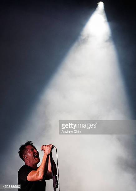 Trent Reznor of Nine Inch Nails performs during Day 1 of Pemberton Music and Arts Festival on July 18 2014 in Pemberton Canada