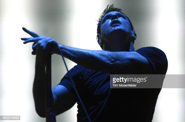 Trent Reznor of Nine Inch Nails performs during the Pemberton Music and Arts Festival on July 18 2014 in Pemberton British Columbia