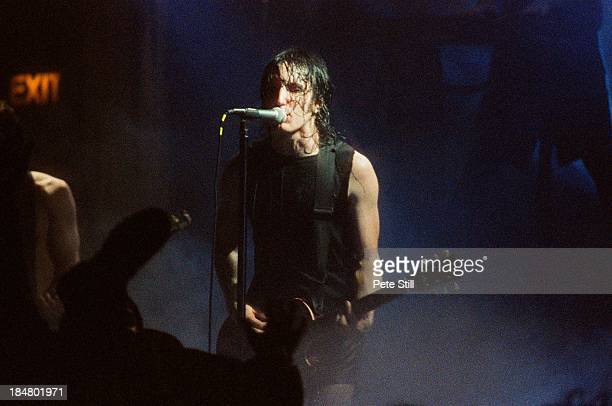 Trent Reznor of Nine Inch Nails performs on stage at Brixton Academy on May 25th 1994 in London England