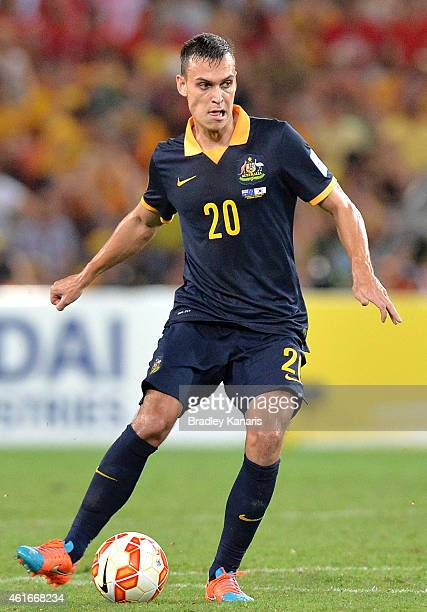 Trent Sainsbury of Australia in action during the 2015 Asian Cup match between Australia and Korea Republic at Suncorp Stadium on January 17 2015 in...