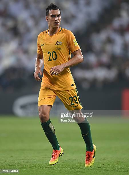 Trent Sainsbury of Australia in action during the 2018 FIFA World Cup Qualifier match between UAE and Australia at Mohamed Bin Zayed Stadium on...