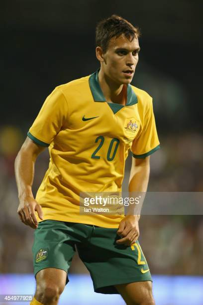 Trent Sainsbury of Australia in action during the International Friendly match between Saudi Arabia v Australia at Craven Cottage on September 8 2014...