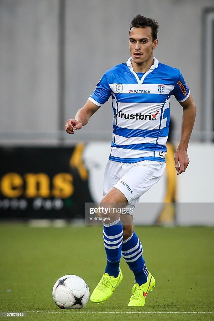 Trent Sainsbury of PEC Zwolle during the Dutch Eredivisie match between PEC Zwolle and SC Heerenveen at the IJsseldelta stadium on october 26 2014 in...