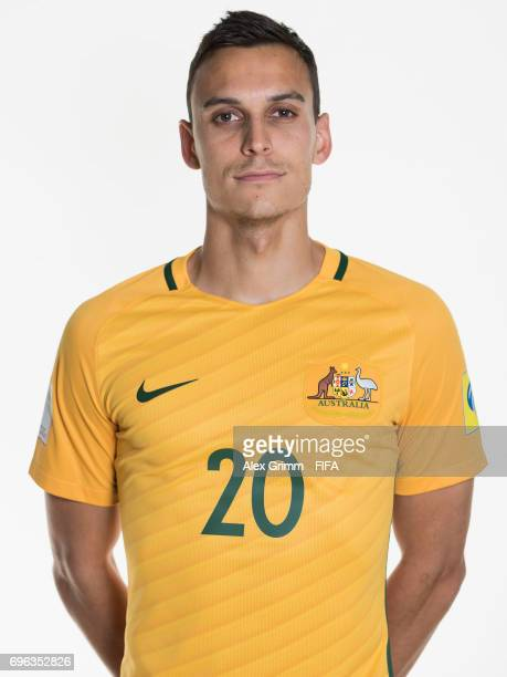 Trent Sainsbury poses for a picture during the Australia team portrait session on June 15 2017 in Sochi Russia