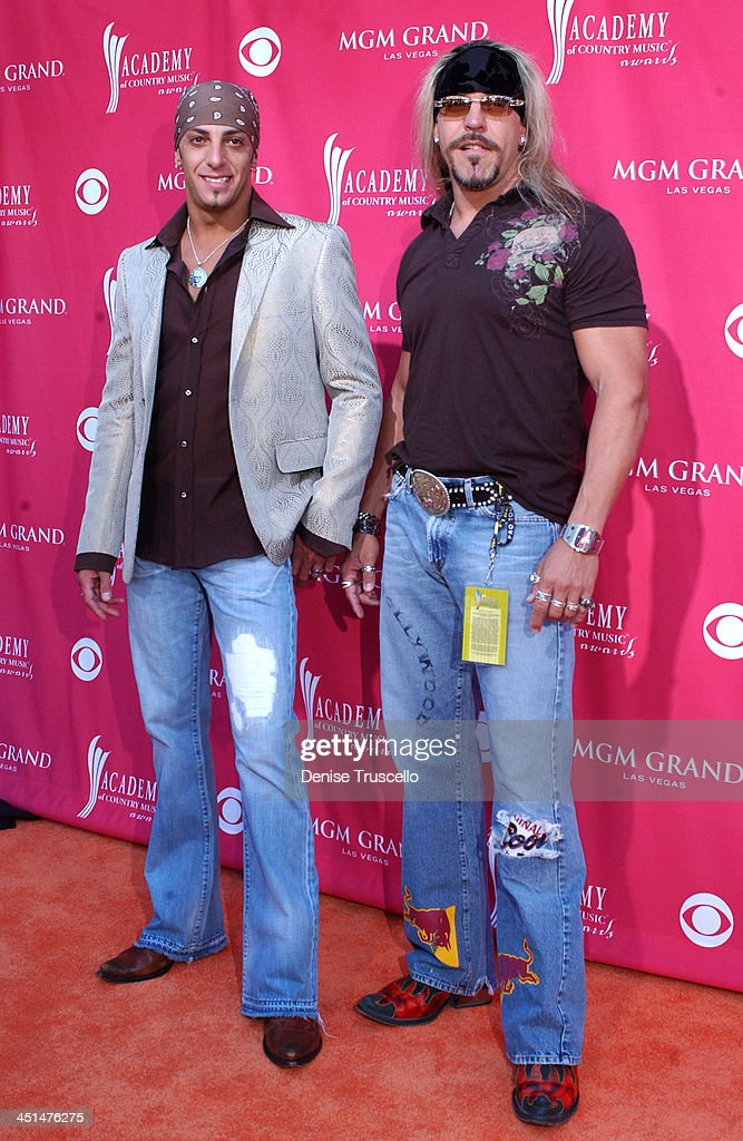 Trent Tomlinson and Hollywood Yates during 41st Annual Academy of Country Music Awards Arrivals at MGM Grand in Las Vegas Nevada United States