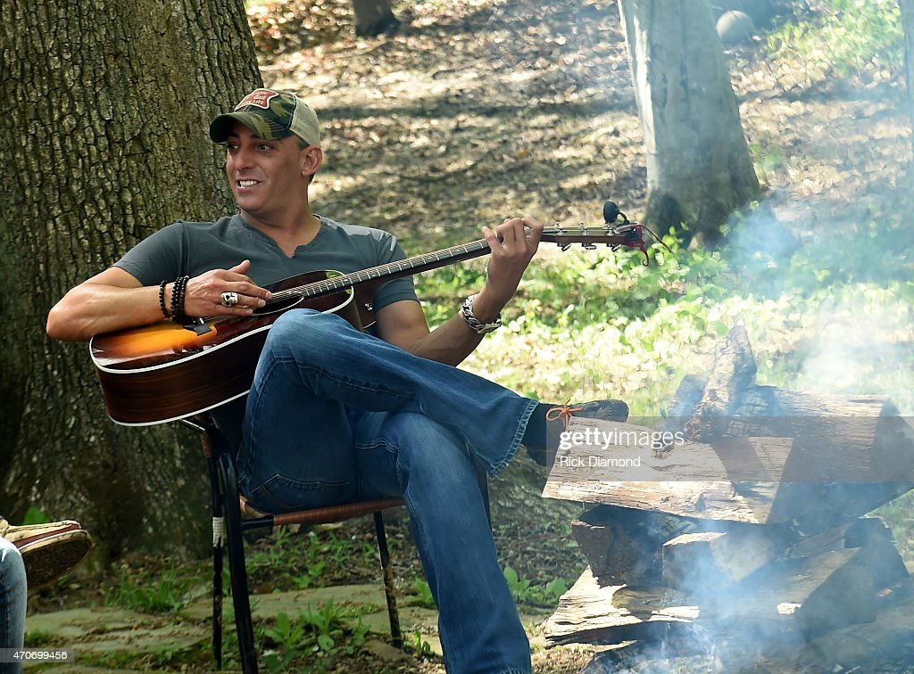 Trent Tomlinson attends Country Rock Group Love And Theft 'Cabin Fever Writing Sessions' on April 21 2015 in Dover Tennessee