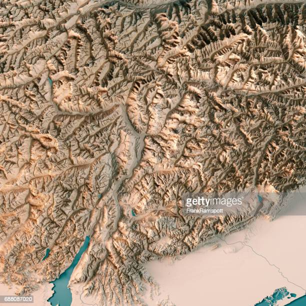 Trentino Alto Adige Regione Autonoma Italien 3D-Render topographische Karte Neutral
