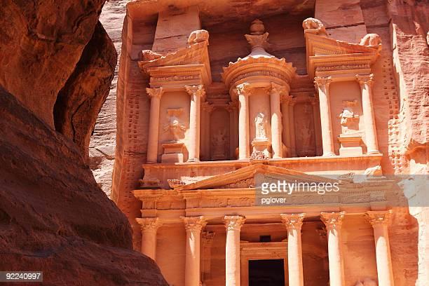 Tresury Gebäude in Petra, Jordanien