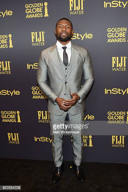 Trevante Rhodes arrives at the Hollywood Foreign Press Association and InStyle celebrate the 2017 Golden Globe Award Season at Catch LA on November...