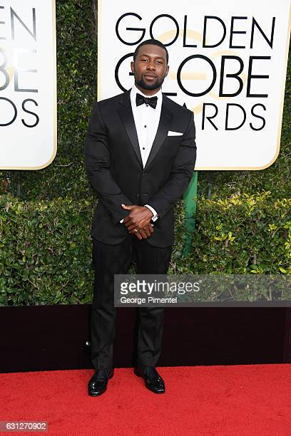 Trevante Rhodes attends the 74th Annual Golden Globe Awards held at The Beverly Hilton Hotel on January 8 2017 in Beverly Hills California