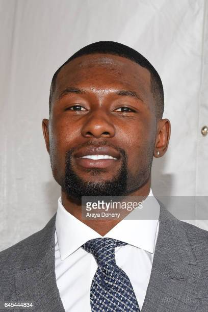 Trevante Rhodes during the 2017 Film Independent Spirit Awards at the Santa Monica Pier on February 25 2017 in Santa Monica California