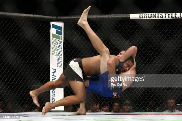 Trevin Giles takes down James Bochnovic during the UFC 213 event at TMobile Arena on July 9 2017 in Las Vegas Nevada