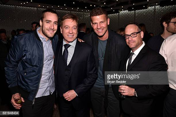 Trevor Adley Kevin Huvane David Boreanaz and Doug Wald attend the 2016 CAA Upfronts Celebration Party on May 16 2016 in New York City