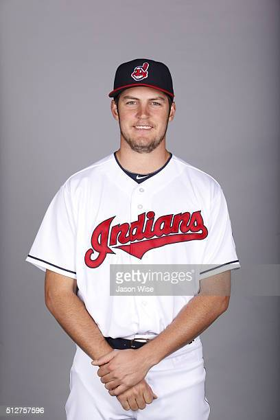 Trevor Bauer of the Indians poses during Photo Day on Saturday February 27 2016 at Goodyear Ballpark in Goodyear Arizona