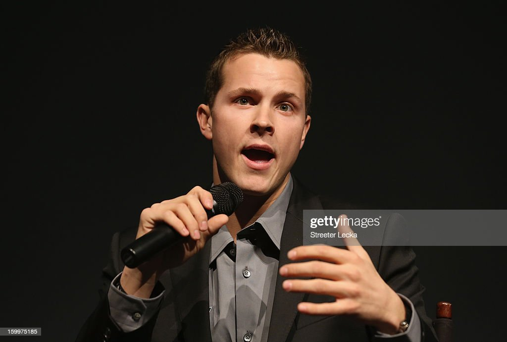 Trevor Bayne, driver for Roush Fenway Racing, speaks to the media during the 2013 NASCAR Sprint Media Tour on January 24, 2013 in Concord, North Carolina.