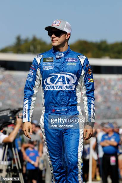 Trevor Bayne Monster Energy NASCAR Cup Series driver of the AdvoCare Ford during introductions for the Monster Energy Cup Series ISM Connect 300 on...