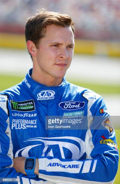 Trevor Bayne Roush Fenway Racing AdvoCare Ford Fusion prior to the Monster Energy Open on May 20 2017 at the Charlotte Motor Speedway in Concord NC