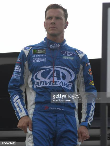 Trevor Bayne Roush/Fenway Racing AdvoCare Ford Fusion during practice for the Monster Energy Cup Series on April 21 at Bristol Motor Speedway in...