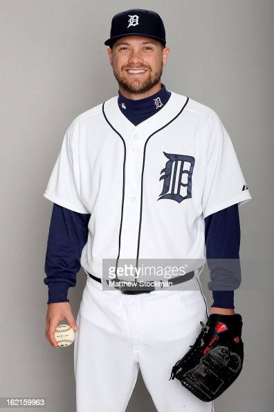 Trevor Bell of the Detroit Tigers poses for a portrait on February 19 2013 in Lakeland Florida