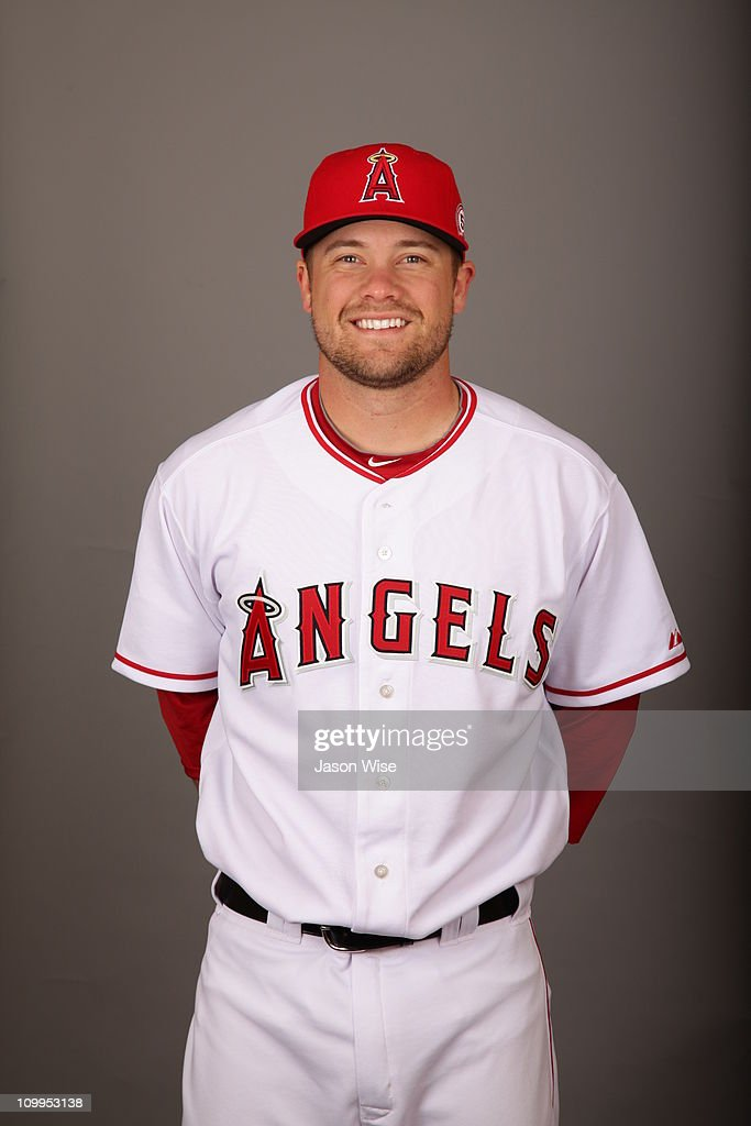 Trevor Bell of the Los Angeles Angels of Anaheim poses during Photo Day on Monday February 21 2011 at Tempe Diablo Stadium in Tempe Arizona