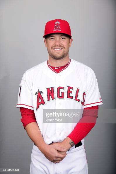 Trevor Bell of the Los Angeles Angels of Anaheim poses during Photo Day on Wednesday February 29 2012 at Tempe Diablo Stadium in Tempe Arizona