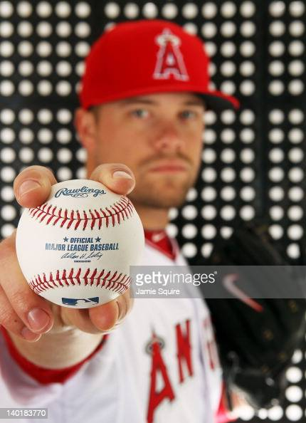Trevor Bell of the Los Angeles Angels poses during spring training photo day on February 29 2012 at Tempe Diablo Stadium in Tempe Arizona