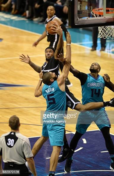 Nba Player Trevor Booker >> Brooklyn Nets vs Charlotte Hornets Pictures | Getty Images