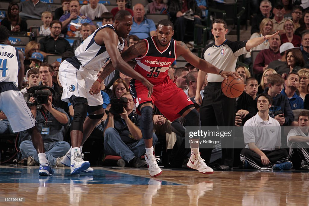 <a gi-track='captionPersonalityLinkClicked' href=/galleries/search?phrase=Trevor+Booker&family=editorial&specificpeople=4123563 ng-click='$event.stopPropagation()'>Trevor Booker</a> #35 of the Washington Wizards drives to the basket against the Dallas Mavericks on November 14, 2012 at the American Airlines Center in Dallas, Texas.