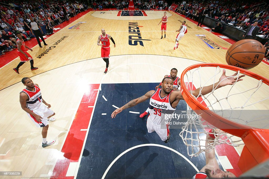 <a gi-track='captionPersonalityLinkClicked' href=/galleries/search?phrase=Trevor+Booker&family=editorial&specificpeople=4123563 ng-click='$event.stopPropagation()'>Trevor Booker</a> #35 of the Washington Wizards grabs a rebound against the Chicago Bulls in Game Four of the Eastern Conference Quarterfinals on April 27, 2014 at Verizon Center in Washington, DC.