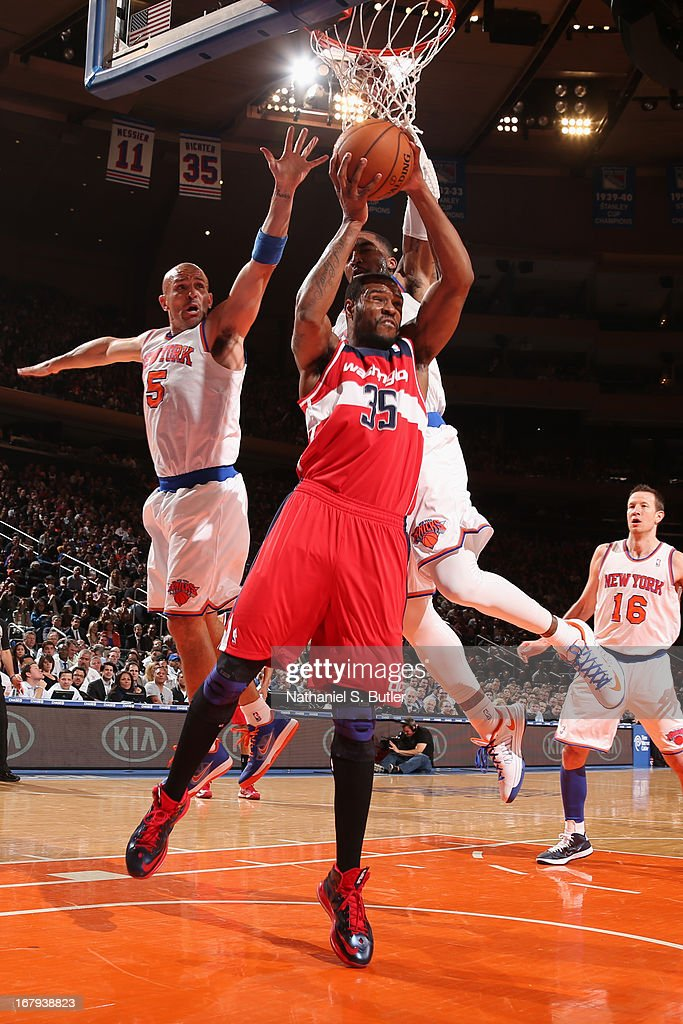 <a gi-track='captionPersonalityLinkClicked' href=/galleries/search?phrase=Trevor+Booker&family=editorial&specificpeople=4123563 ng-click='$event.stopPropagation()'>Trevor Booker</a> #35 of the Washington Wizards rebounds against the New York Knicks on April 9, 2013 at Madison Square Garden in New York City.