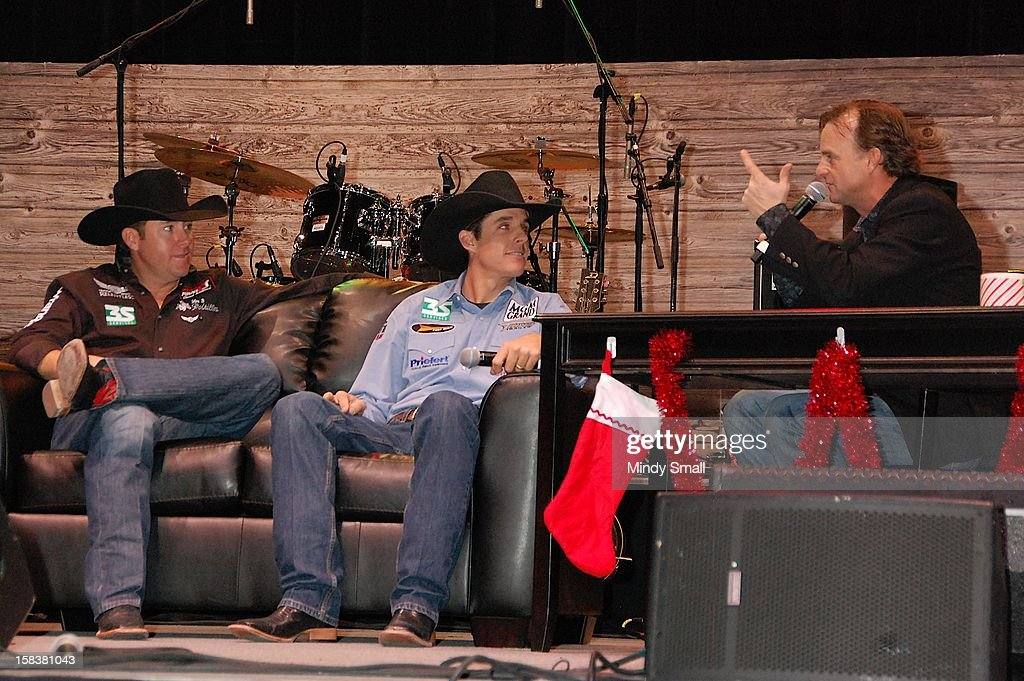 Trevor Brazile, Patrick Smith and Flint Rasmussen attend Cowboy FanFest during the Wrangler National Finals Rodeo at the Las Vegas Convention Center on December 14, 2012 in Las Vegas, Nevada.