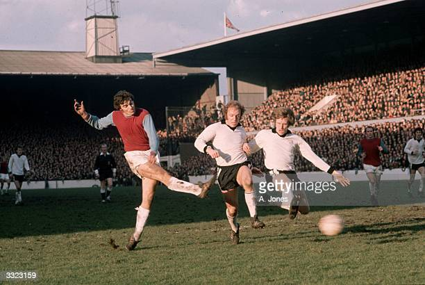 Trevor Brooking of West Ham United in action during the fourth round FA Cup match against Hereford Nonleague Hereford had beaten First Division...